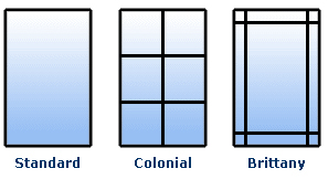 designs available for PGT casement impact window Series CA740