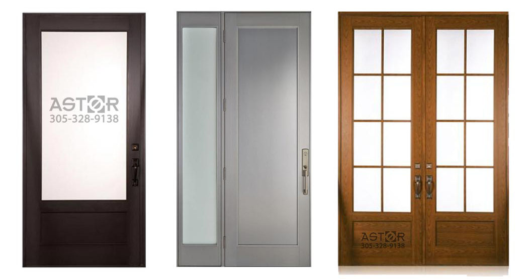A selected collection of impact-rated entry doors for hurricane protection