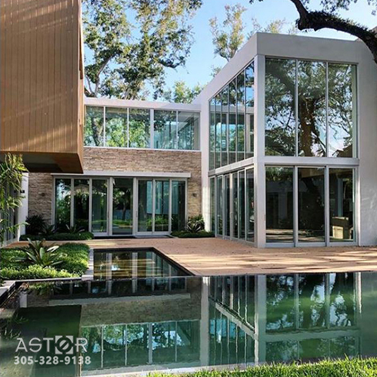 New construction impact window project in Miami, Florida