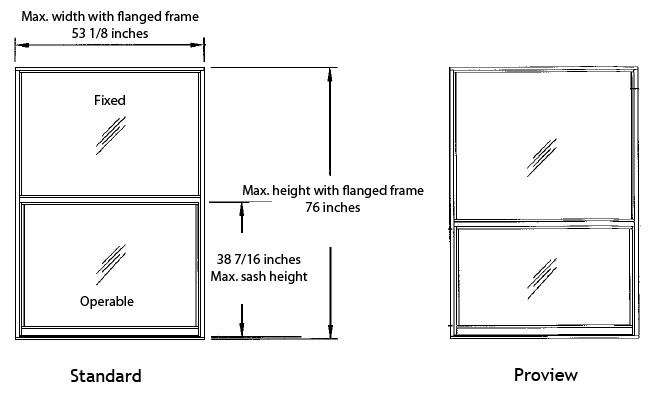 PGT Single Hung Window Series 701 image