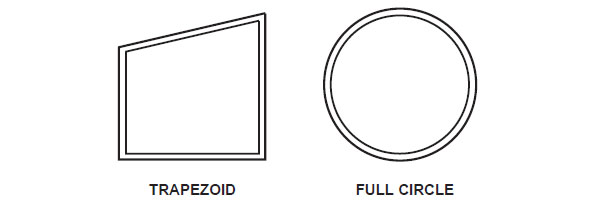 window shape Trapezoid and Full Circle