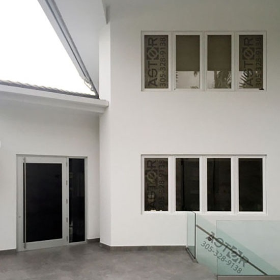 Residential retrofit impact window project in Miami, Florida